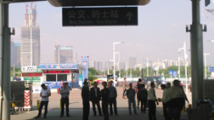 Shenzhen checkpoint, on the way to Guangzhou