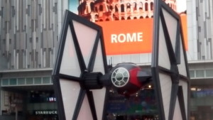 TIE Fighter on Tianhe Road, where the faggot was