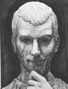A drawing of Niccolo Machiavelli