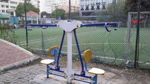 Pullup machine in a park near Chigang in Guangzhou