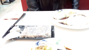Chinese dinner with a Chinese woman