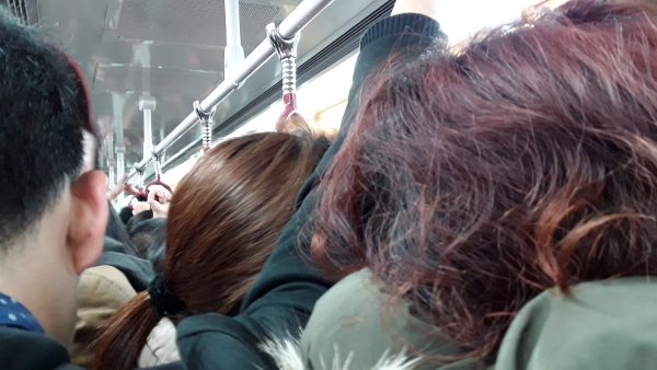 Selfishness is important to claim your spot on crowded subways in China