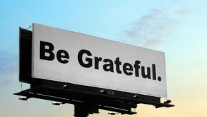 Billboard telling us to be grateful