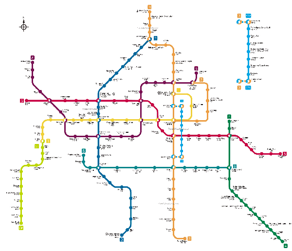 Guangzhou subway map. English First has schools all over the city.