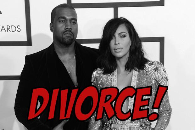Kim Kardashian and Kanye West rumors of divorce