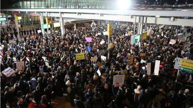 JFK Immigration Protest