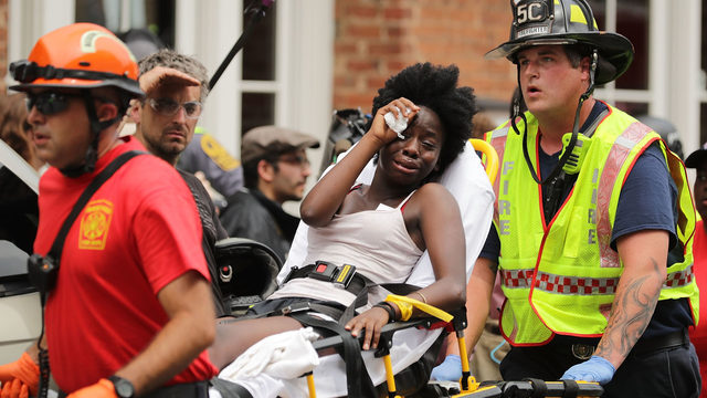 Black woman injured at Charlottesville counter protest
